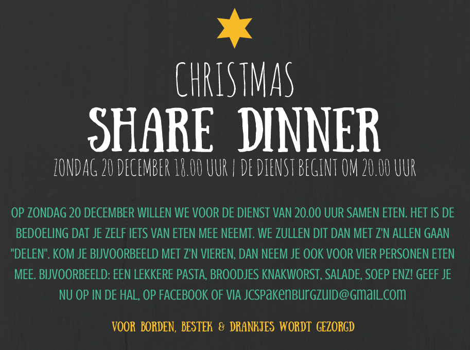 Poster Sharedinner 20 december