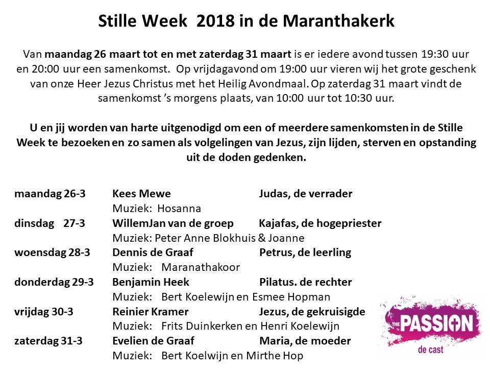 Stille week 2018