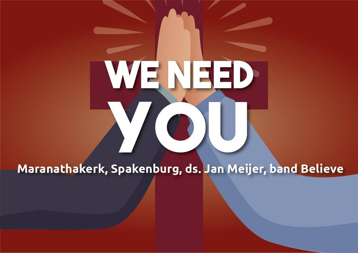 Jeugddienst: We need you